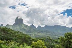 Moorea dans Polynésie, belvédère d'Opunohu images stock
