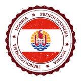 Moorea flaga odznaka Obraz Royalty Free