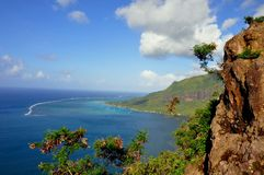 Moorea franska Polynesien Arkivfoto