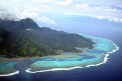 Moorea Island. Moorea and Tahiti Islands in South Pacific, French Polynesia royalty free stock photo