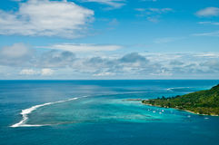 Moorea Island lagoon Stock Photo