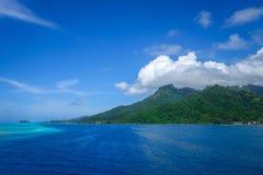 Moorea island and pacific ocean lagoon landscape Stock Image