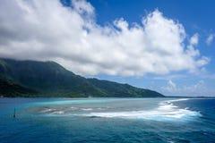 Moorea island and pacific ocean lagoon landscape Royalty Free Stock Photo