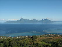 Moorea island from Tahiti Stock Photos