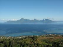 Moorea island from Tahiti stock photos