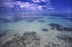 Moorea Lagoon. The crystal clear lagoon on the island of Moorea - French Polynesia Stock Photography