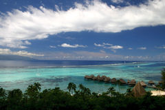Moorea lagoon Royalty Free Stock Photo