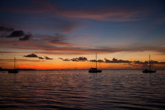 Moorea Sunset Stock Photos