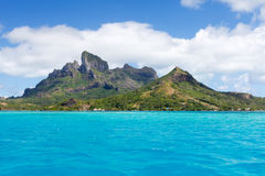 Moorea view from the Pacific Ocean Stock Photos