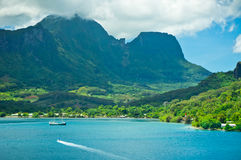 Moorea wyspy, Cook zatoka, Francuski Polynesia Obrazy Stock