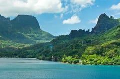 Moorea wyspy, Cook zatoka, Francuski Polynesia Zdjęcie Stock