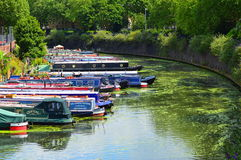 Moored barges Royalty Free Stock Photography