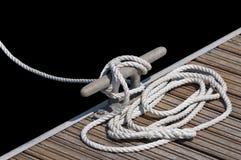 Moored boat stock photo