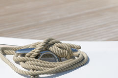Moored boat royalty free stock photography