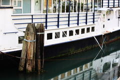 The moored boat Royalty Free Stock Photos