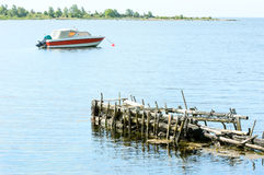 Moored boat Stock Photography