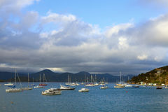 Moored boats Royalty Free Stock Photo