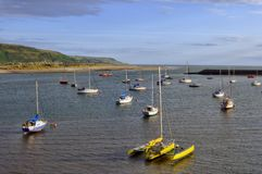 Moored Boats in Barmouth Royalty Free Stock Photos