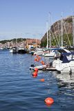 Moored boats in the harbor Stock Photo