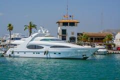 Moored boats Port de Alcudia Stock Image