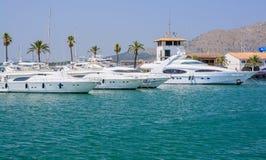 Moored boats Port de Alcudia Stock Photography