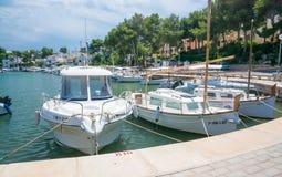 Moored boats Portopetro Royalty Free Stock Photos
