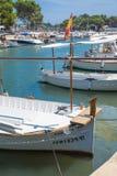 Moored boats Portopetro Stock Photography