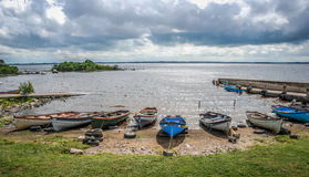 Moored boats Stock Image