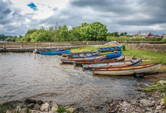 Moored boats Stock Photography