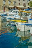 Moored boats in Supetar Stock Photos