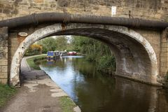 Moored canalside for the night royalty free stock photography