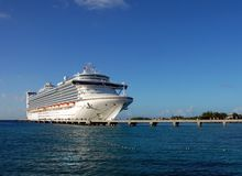 Moored cruise liner Stock Image