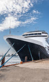 Moored cruise ship Royalty Free Stock Photos