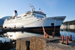 Moored cruise ship Stock Photos