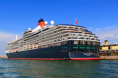 Moored cruise ship Queen Victoria in port of Venice, Italy Royalty Free Stock Image