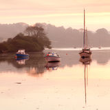 Moored at dawn Royalty Free Stock Images