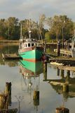 Moored Fishboat, Steveston Harbor Stock Photos