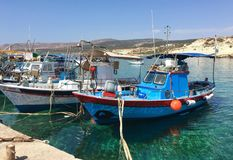 Moored fishing boats Royalty Free Stock Photo