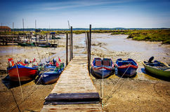 Moored Fishing Boats Stock Photography