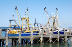 Moored fishing ships Royalty Free Stock Photos