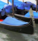 Moored Gondolas Stock Photography