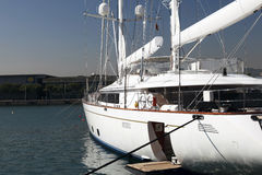 Moored Luxury Yacht Stock Images