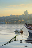 Moored moat in Golden Horn Royalty Free Stock Photo