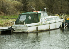 Moored motor boat Royalty Free Stock Photos