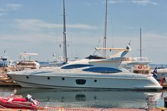 Moored Motor Yacht Royalty Free Stock Photography
