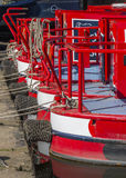 Moored narrowboats Royalty Free Stock Photo