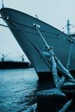 Moored ocean ship Royalty Free Stock Image