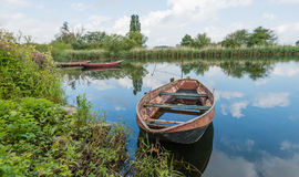 Moored rowing boats Royalty Free Stock Photo
