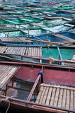 Moored Rowing Boats at Tam Coc Stock Photography