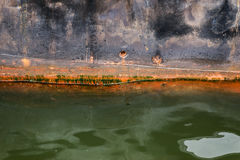 Moored rusted vessel. Royalty Free Stock Photo